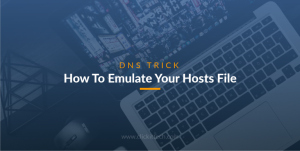 How To Emulate Your Hosts File (DNS Trick)