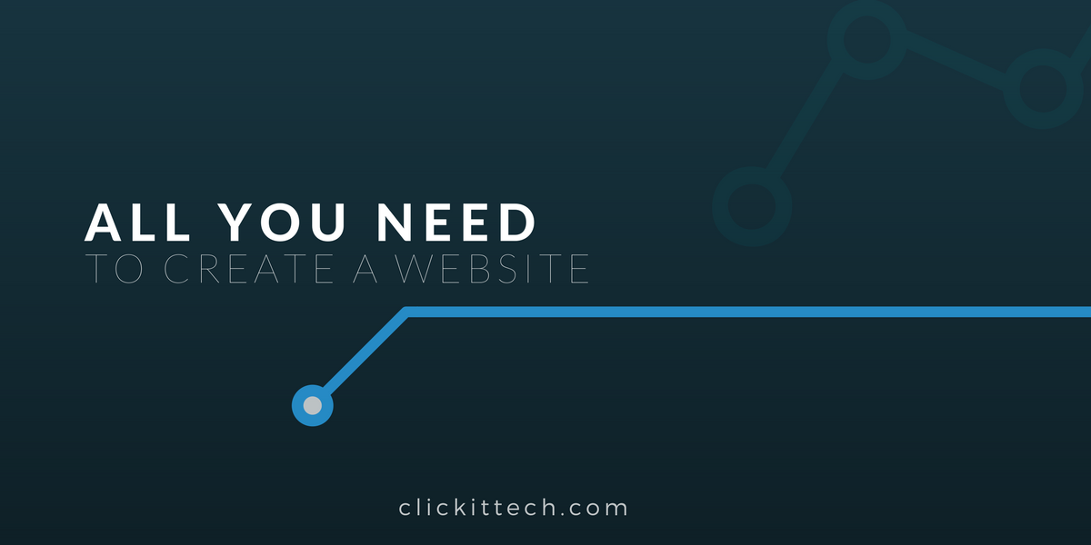 All you need to create a website