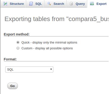 Database step 2