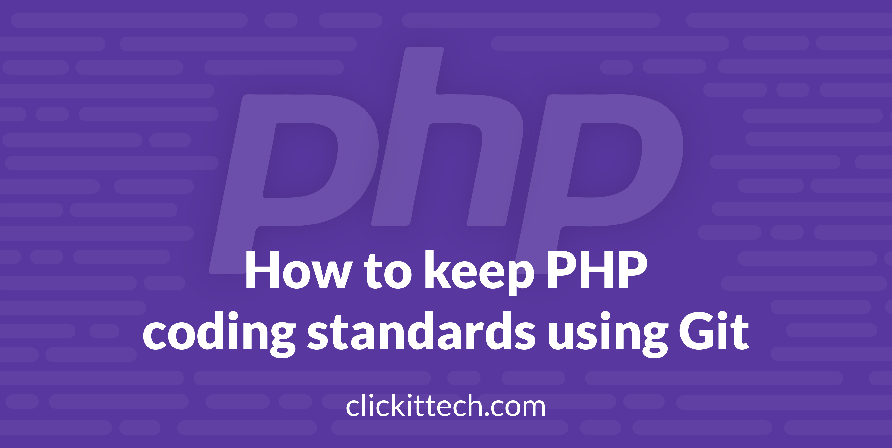 How to keep PHP coding standards using Git