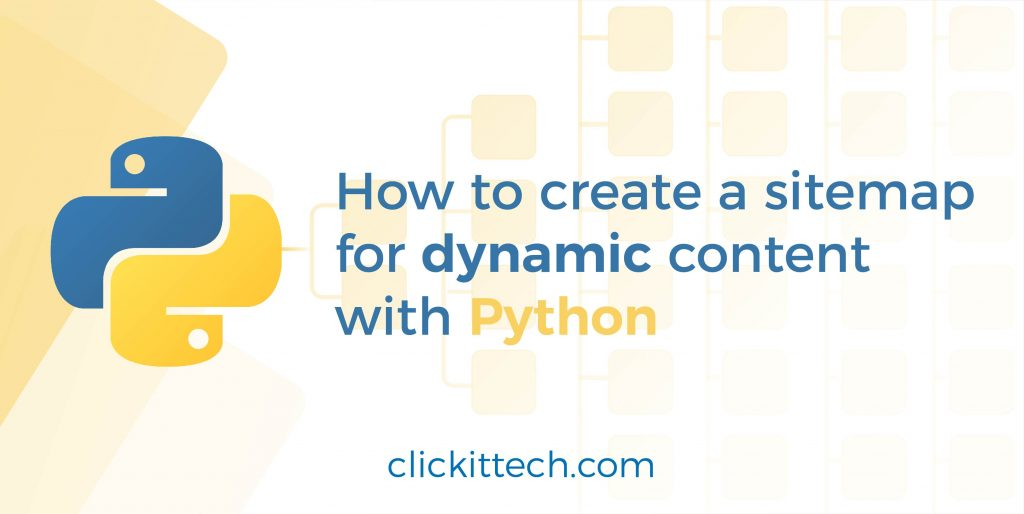 Create your own sitemap for dynamic content with python