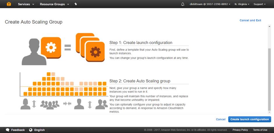 create launch configuration