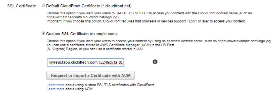 Custom SSL Certificate