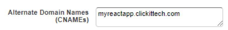 Alternate Domain Names