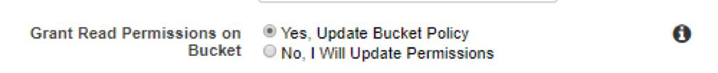 update bucket policy