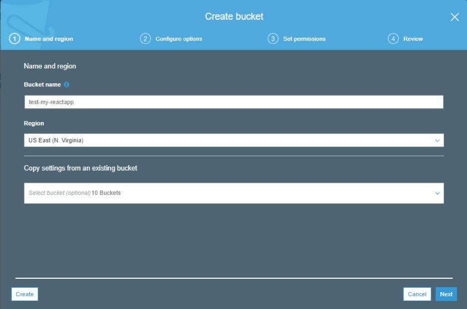 configure bucket settings