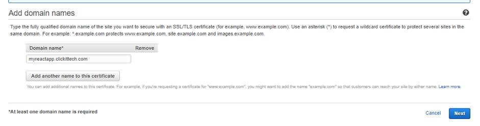 add domain names