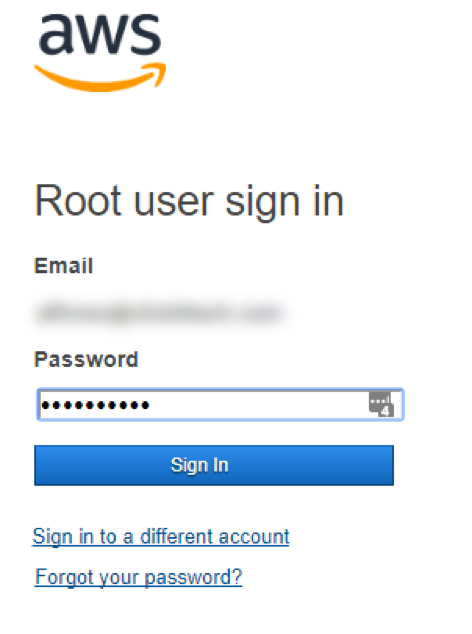 User Sign in AWS