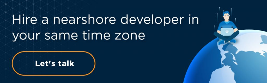 hire a nearshore developer in your same time zone